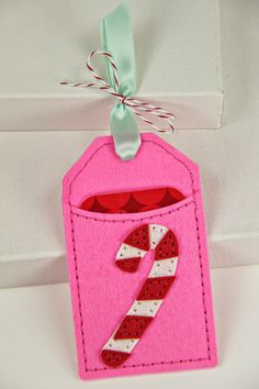 Candy Cane Pocket Tag by Erin Lincoln for Papertrey Ink (October 2014)