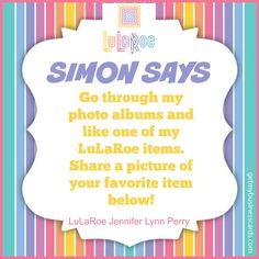 Simon Says game (slide 3) by LuLaRoe Jennifer Lynn Perry