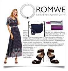 """Romwe Dress Contest"" by fdalwah ❤ liked on Polyvore featuring Carvela, Balmain, Isaac Mizrahi, Maybelline, Lokai, romwe, girly, Elegant and vlinedress"