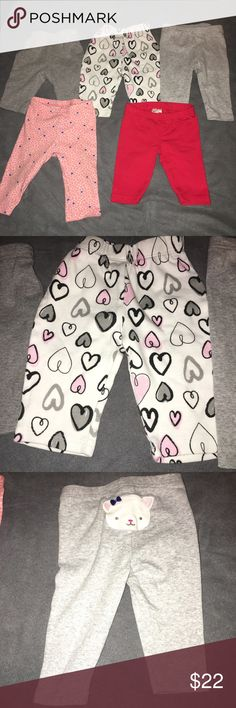 Carter's baby girls pants size 0-3M Carter's and various other brands of Baby Girls pants. All are sizes 0-3 months Bottoms Leggings