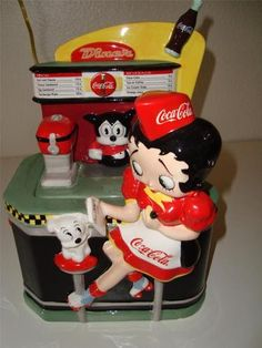Betty Boop Coca-Cola Limited Edition of 3600 Cookie Jar made in China by Vandor