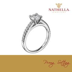 The most known and commonly used technique of setting diamond or stone is the prong setting. In this type of setting a diamond is placed between the prongs and the edges of a prong are bent over the stone to hold it firmly.