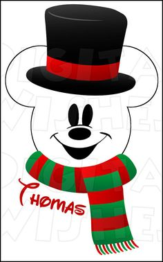 Mickey Mouse Snowman Digital Iron on transfer by DigitalWishes