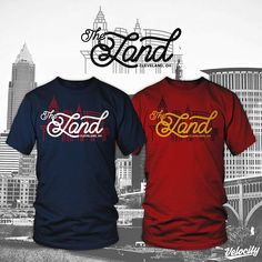 """""""The Land"""" printed by Velocity Screenworks. www.velocityscreenworks.com #theland #cleveland #indians #cavaliers"""