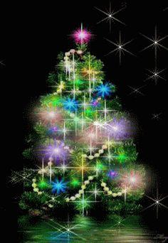 Christmas Tree Gif, Christmas Booth, Holiday Gif, Merry Christmas Happy Holidays, Christmas Scenes, Christmas Images, Winter Christmas, Christmas Lights, Vintage Christmas
