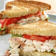 This delicious crab sandwich recipe is great for any outdoor party, day or night. Healthy Recipe Videos, Super Healthy Recipes, Easy Healthy Dinners, Crab Sandwich, Sandwich Recipes, Healthy Sandwiches, Fish Recipes, Lunch Recipes, Healthy Snacks For Diabetics