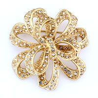 $30 http://www.pugster.com/Golden-Floral-Ribbon-With-Some-Clear-Crystal-April-Birthstone-Brooches-And-Pins/p_BCH_YB07_X04