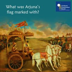 What was Arjuna's flag marked with? a) Fire-god b) Hanuman c) Goddess of fortune d) Sword