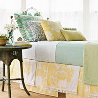 I need a bed skirt, but hate bed skirts. But this works for me, I LOVE this idea!