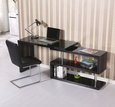 BLACK Working Desk Study High Gloss Storage Display Extra Bookshelf Furniture    Take  this Budget Opportunity. At Luxury Home Brands WE always Find Great Stuff for you :)