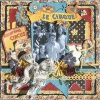 Graphic 45 Le Cirque Scrapbook Layout