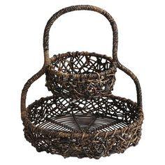 Abaca 2-tier Basket