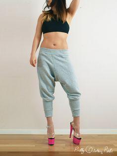 DIY Harem Sweat Pants :: pretty quirky pants