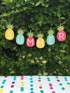 Pineapple Summer Banner - FREE Printable!