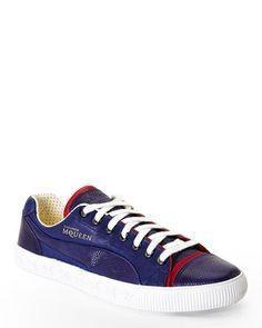 a0bbe1e75d9d PUMA BY ALEXANDER MCQUEEN Blue Street Climb III Low-Top Sneakers