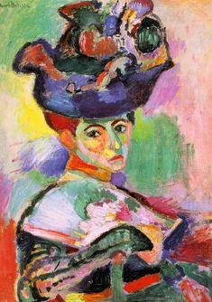 Matisse, Femme au chapeau, 1905. http://parcours-art.blogspot.fr/2011/10/matisse-cezanne-picasso-laventure-des.html