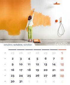 Octubre 2017 / October 2017 #calendario #2017 #TRESGriferia #Vallirana