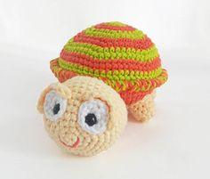 Crochet Turtle Amigurumi Stuffed Animal by HerterCrochetDesigns