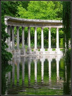 Parc Monceau  is a public park situated in the 8th arrondissement of Paris, France, at the junction of Boulevard de Courcelles, Rue de Prony and Rue Georges Berger. At the main entrance is a rotunda. The park covers an area of 8.2 hectares (20.3 acres).