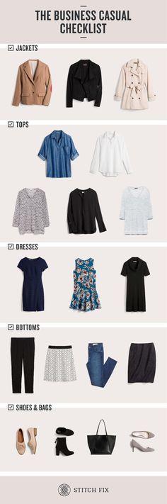 The Business Casual Wardrobe Checklist   Stitch Fix Style