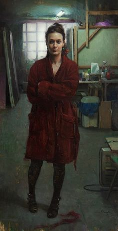 Jordi Díaz Alamà / Specs Size: 60 cm x 30 cm Technique: oil painting on wood panel Love Painting, Figure Painting, Painting Styles, Illustrations, Illustration Art, Realistic Paintings, Canvas Paper, Small Art, Portrait Art