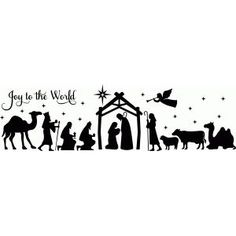 Silhouette Design Store: full nativity