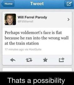 A possible reason for Voldemort's flat face