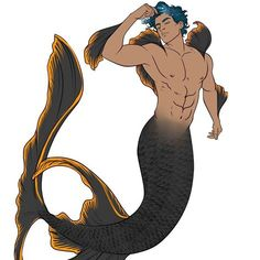 Summary -> Merman Definition Of Merman By Merriamwebster Mermaid Boy, Male Mermaid, Fantasy Creatures, Mythical Creatures, Sea Creatures, Character Inspiration, Character Art, Character Design, Humanoid Creatures