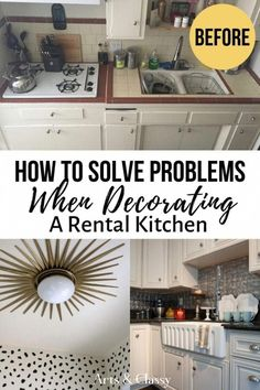 Temporary DIY Projects - renter friendly that can easily be changed back when moving out. Kitchen home ideas on a budget, apartment & rental #kitchenideas #kitchendecoronabudget #homedecoronabudget #RoomWallDecor Apartment Decoration, Diy Home Decor For Apartments, Diy Home Decor On A Budget, Kitchen On A Budget, Decorating On A Budget, Home Decor Kitchen, Diy Kitchen, Cheap Home Decor, Kitchen Ideas
