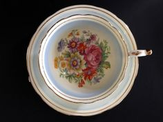 Paragon Floral Teacup and Saucer, Double Warrant English Bone China Tea Cup 13928