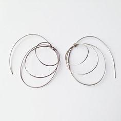 Nautilus pure earrings in silver by LauraEssayie on Etsy