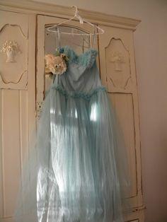 Vintage blue tulle dress