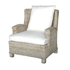 Wicker club chairs are a cozy addition to any porch. | $794