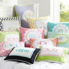 Monogram Pillow Cover #potterybarnteen