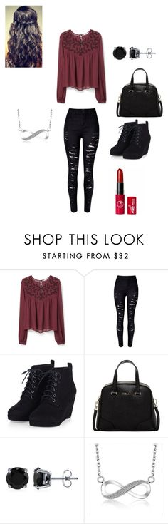 """Untitled #607"" by nikki-diamonds ❤ liked on Polyvore featuring MANGO, Furla and BERRICLE"
