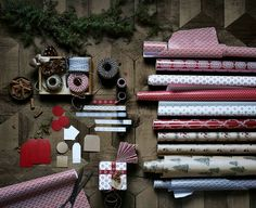 Christmas gift wrap from Ikea. Perfect for Christmas crafts and making your own Christmas decorations.