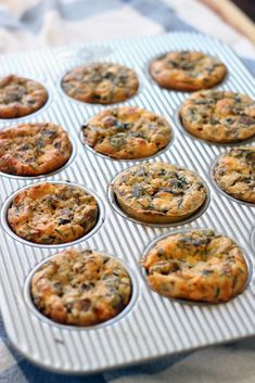 These mini mushroom, goat cheese, and rosemary quiches are moist, fluffy, and the perfect to-go breakfast: just pop in the microwave and eat! And they aren't dry like other egg muffin recipes! Quiche Recipes, Muffin Recipes, Brunch Recipes, Breakfast Recipes, Breakfast Dishes, Breakfast Ideas, Easy To Make Breakfast, Breakfast On The Go, Best Breakfast