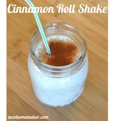 A cinnamon roll protein shake. A healthy alternative to satisfy your cravings for something sweet!