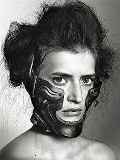Richard Burbridge Mask photography for Livraison Magazine | Trend.Land