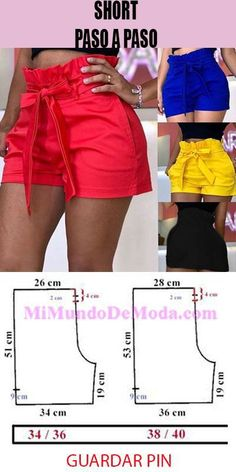 Easy 100 Sewing tutorials tips are offered on our website. Read more and you wont be sorry you did. Fashion Sewing, Diy Fashion, Fashion Outfits, Sewing Pants, Sewing Clothes, Clothes Crafts, Dress Sewing Patterns, Clothing Patterns, Como Fazer Short