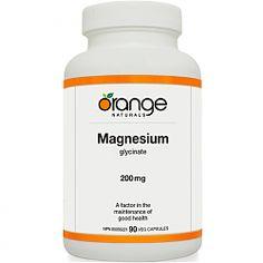 Orange Naturals Magnesium Glycinate 200mg, 90 V-caps Another excellent form of magnesium
