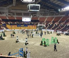 Riders have begun to walk the course for the Show Jumping Hall Of Fame A/O Jumper Classic !