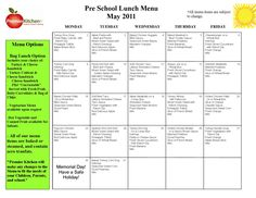 day care lunch menu template awesome lists pinterest lunch