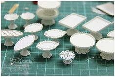 MINI - really good idea to use different jewelry components, pendants, bead caps, other jewelry findings and turn them into a beautiful kitchen pieces Diy Kitchen Accessories, Dollhouse Accessories, Doll Accessories, Miniature Crafts, Miniature Dolls, Miniature Kitchen, Miniature Furniture, Barbie Furniture, Dollhouse Furniture