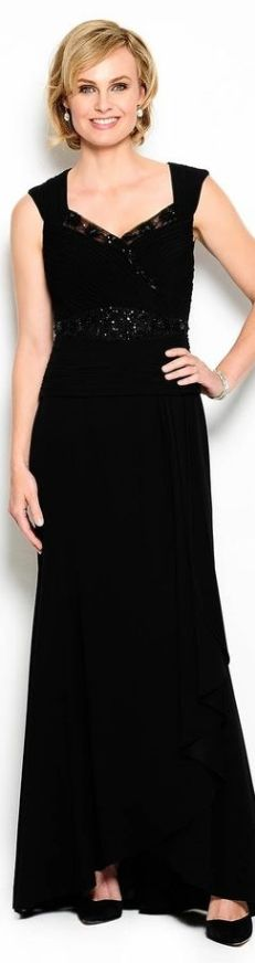 Daymor Couture Beaded Pleated Gown
