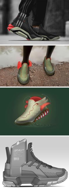 Designer Ilyas Darakchiev worked out the Biomech Sneaker concepts which are two designs based on the principle where the shoe wraps itself around the wearer's ankle the minute his/her foot slips in, and even went on to build prototypes of how the shoes would actually work in real-life. Inspired by how chemical reactions in a Venus Flytrap enable it to close down its jaws on any unsuspecting prey.