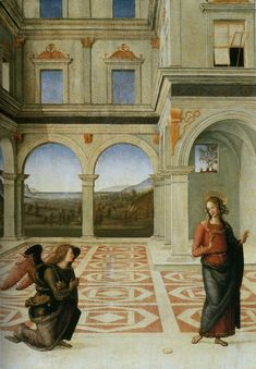 'The Annunciation' ~ Pietro Perugino, 1497