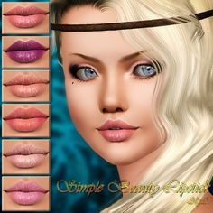 Simple Beauty Lipstick by Alga - Sims 3 Downloads CC Caboodle