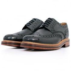 Grenson Archie Black Brogue Shoes 506701