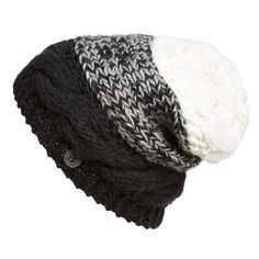 Women's Bench 'Stayce' Colorblock Knit Beanie (39 AUD) ❤ liked on Polyvore featuring accessories, hats, beanies, gorros, cap hats, cable knit beanie, knit slouchy beanie, beanie cap and slouchy beanie